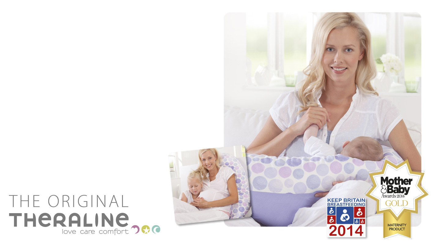 Theraline nursing pillow with cover